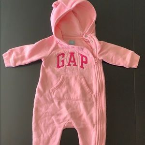 Gap zip up onesie